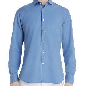 Dylan Gray Mens Navy Poplin Long Sleeve Med Blue
